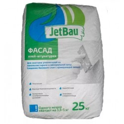 """Клей-штукатурка """"JetBau"""" Фасад 25кг"""