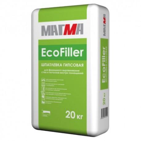 """Гипсовая шпатлевка """"EcoFiller"""" (20 кг) МАГМА"""